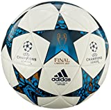 Adidas Men Finale Cardiff 2017 Capitano Ball - White/Mystery Blue/Cyan, Size 5