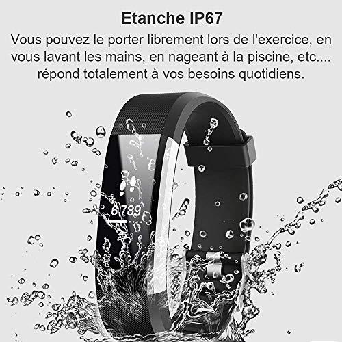 Montre Connectée, Willful Bracelet Connectée Fitness Tracker d'Activité Cardiofréquencemètre Etanche IP67 Smartwatch Cardio Podomètre Sport ... 7