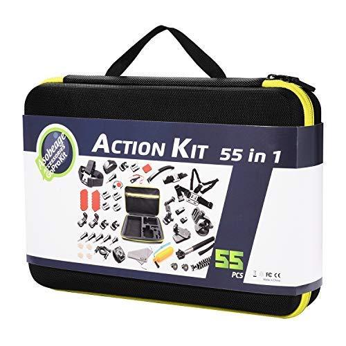 Asobeage 55-in-1 Accessori Kit Per Gopro Hero 7, Hero 4,5,6, Nero, Hero 2018, Fusion, AKASO Yi APEMAN VIVITAR SJCAN XIAOMI DBPOWER EK5000 EK7000