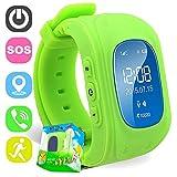 Reloj para Niños,TURNMEON Reloj Infantil Pulsera Inteligente Localizador Compatible con Smartphones (Green)