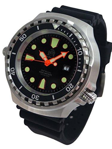 XXL 52mm–1000m–militare orologio subacqueo Tauchmeister con vetro zaffiro e Helium...