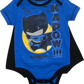 DC Comics Body con Capa - Batman y Supermán - Disfraz para Bebé-Niños