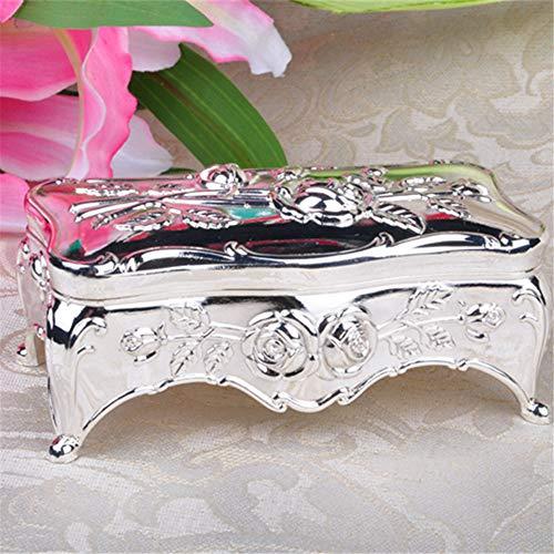 portagioie, scatola di immagazzinaggio creativa rosa rettangolare europea dei gioielli della lega di...