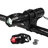 QITAO® LED Fahrradlicht, Topoint wasserdicht 1000 Lumen Fahrradlampe Set,super helle led Taschenlampe ,Frontlicht(5 Modus) + Rücklicht(3 Modus) für Radfahren Camping Outdoor Sport Jagen wandern