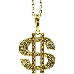 P 'tit payaso 10024collar Dólar metal-altura 8cm-oro