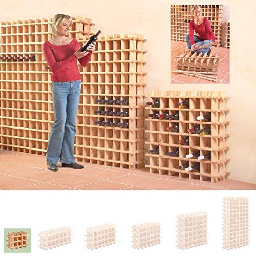 Cantinetta / scaffale per vino / sistema PRIMAVINO modulo per 36 bottiglie, legno di pino - a 76 x l...