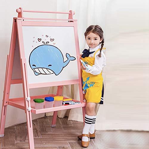 Arkmiido Cavalletto per Bambini in Legno 3 in 1, Tavolo da Disegno Magnetico Fronte-Retro con ASSE...