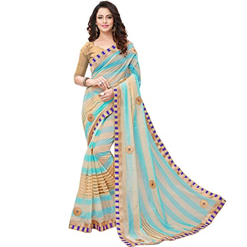 Saree (V.CLOTHY New Catalog of 2017 Women's Clothing Saree For Women Latest Design Wear Sarees Collection Printed with Embroidary Work Cotton Silk Material Latest Saree With Designer Blouse Free Size Beautiful Bollywood Saree For Women Party Wear Offer Designer Sarees With Blouse Piece)