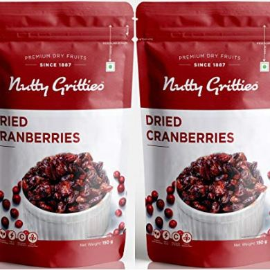Nutty Gritties U.S. Cranberries - Pack of 2(200 GMS Each), 400g 18