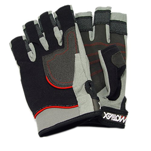 MOTIVEX Segelhandschuhe Rückseite Elasthan, beschichtete Handflächen, Kevlar verstärkte Finger, Handflächen Grösse XXS bis XXXL lieferbar 1
