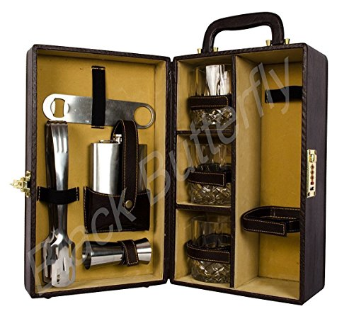 Black Butterfly Bar Tools Set - Kitchen, Home, Bar - Bar Accessories (Brown)