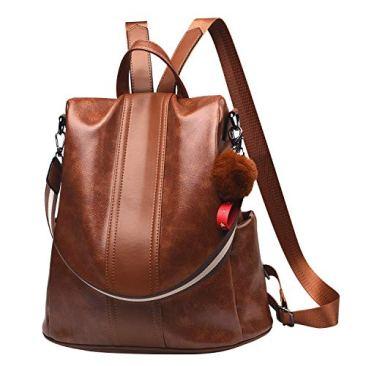 Paradox Girl's Water Resistant Vegan Leather Anti-Theft School Shoulder Backpack Bag (Black) 2