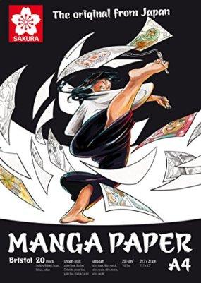 Sakura Manga Paper, Bristol 250g/m², DIN A4, 20hojas