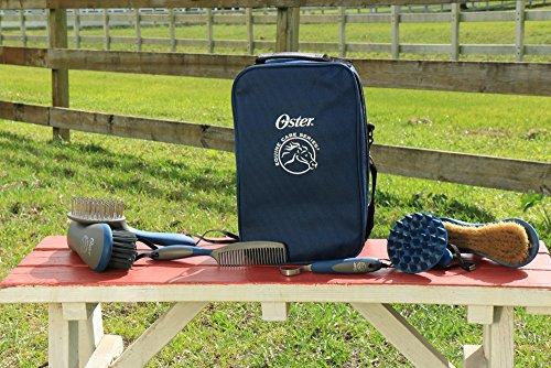 Oster - 78399-310 - Set de soins pour chevaux - 7 pièces - Bleu 23
