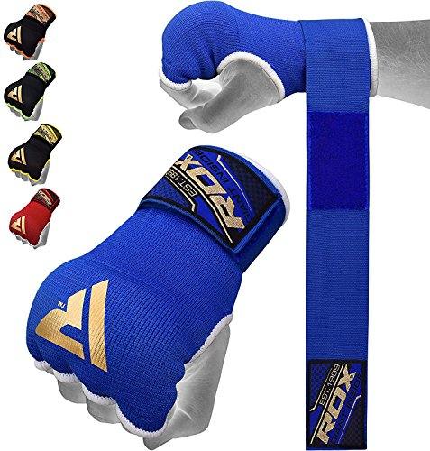 RDX Guanti interni elastici con bende di chiusura per MMA, boxe e tutti gli sport di contatto,...