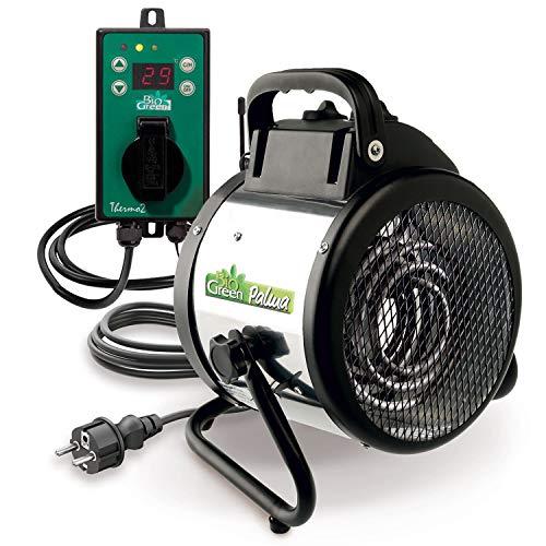 Bio Green Elektrogebläseheizung Palma digital, silber/schwarz, 2000 Watt (inkl. Digital-Thermostat)...