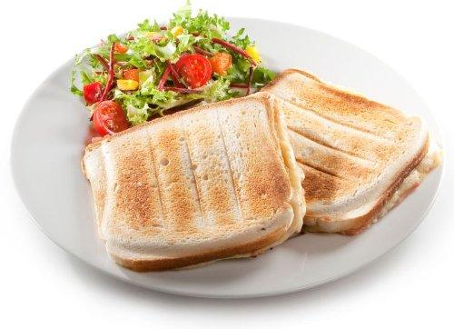 Grande XL Sandwich-tostapane per 2 grandi gustosi conchiglia a forma di Sandwich Brindisi fino ad un...