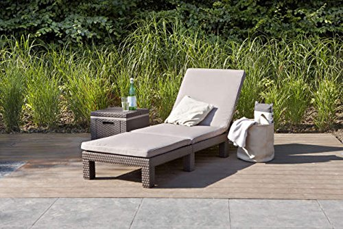 The Keter Daytona Sun lounger looks elegant and will surely enhance your outdoor space while providing a comfortable surface to lie on. It features a rattan style weaving around the walls and this not only looks beautiful but the weaving protects the sun lounger from dust and moisture