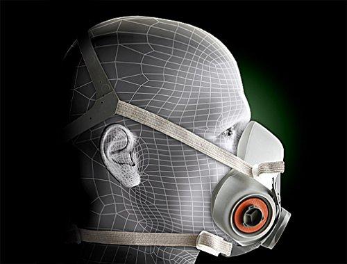 3M 3M-6200 Half Facepiece Reusable Respirator, Without Cartridges(Medium) 10