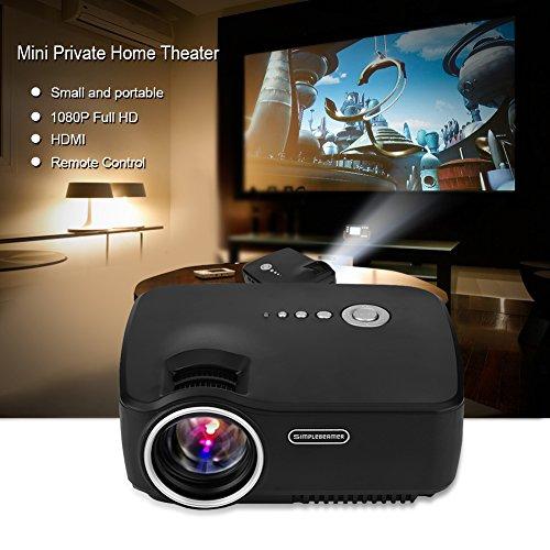 Mini Proiettore 1200 Lumens LED, Portatile Videoproiettore Home Theater Proiettori, Supporto Lettore...