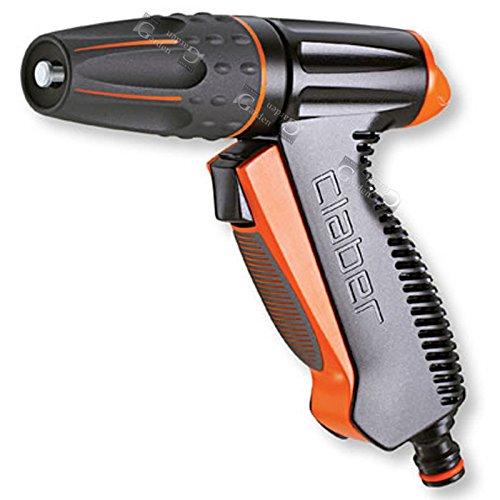 Claber 87243 BL. Pistola Precision 9561, Nero/Arancione, 150x45x210 cm
