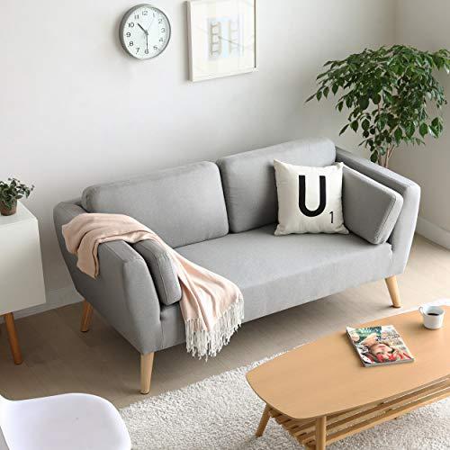 Mc Haus Divano Evy  luce 2 posti a sedere design nordico soggiorno ,Grigio 160x80x76cm