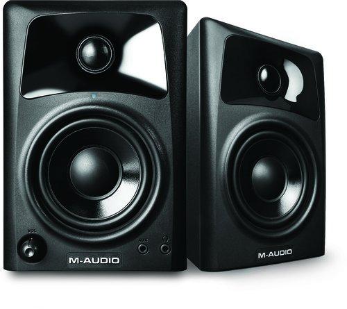 M-Audio AV32 - Monitores activos compactos de referencia para la creación audiovisual profesional y PC (pareja de altavoces)