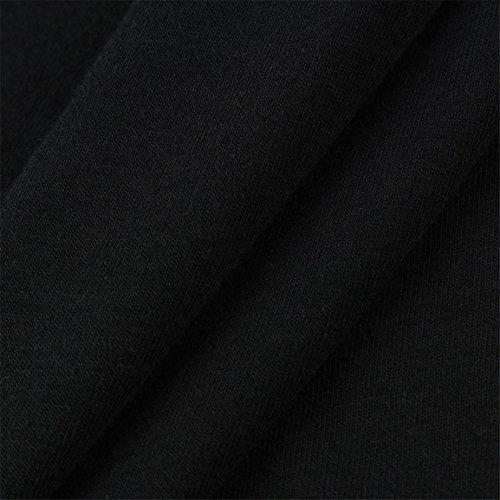 Moonuy Kurzarm-T-Shirt der Frauen 2018 Art- und Weisespitze weg von der Schulter-Spitze aushöhlen tägliches beiläufiges Hemd O-Ansatz dünne Spitzenbluse in der Förderung (EU 36/Asien M, Schwarz) - 6