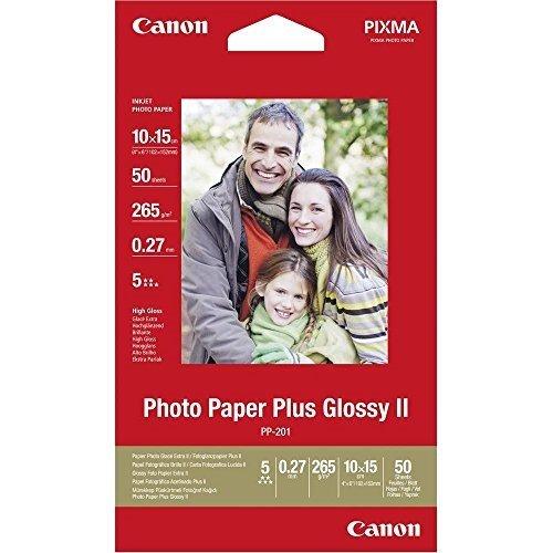 Canon 2311B003 PP-201 Carta Fotografica - 10 x 15 cm, 265 g/m2, Pacco da 50
