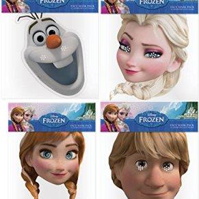 Frozen: El Reino del Hielo (Frozen) - Multipack - 4 Máscaras rígidas Tipo Tarjeta - Anna, Elsa, Kristoff y Olaf…