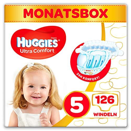 Huggies pannolini Ultra Comfort Baby Taglia 5mese Box, 1er Pack (1X 126pezzi)