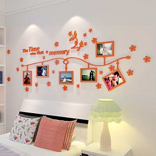 William 337 3D Photo Wall Stereo Wall Sticker Soggiorno Camera da Letto Creative Photo Frame Divano...