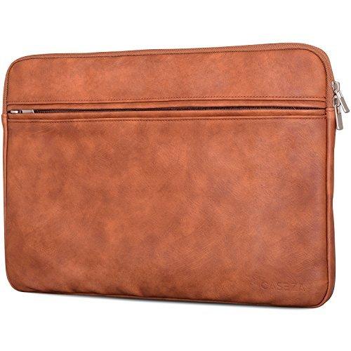 CASEZA Boston Custodia per MacBook Air 13 e Pro 13 in Pelle PU Marrone - Borsa in Pelle Vegana per...