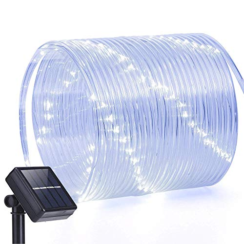 Hardoll 100 LED Decorative Hollow Tube String Solar Diwali Decoration ladi Light (Cool White, 40 Ft)