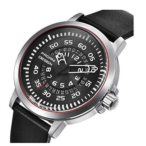 Klassische Herren-Armbanduhr mit Arabischen Ziffern und Quarzuhrwerk