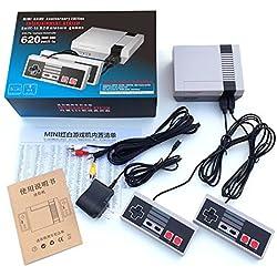 Etbotu Spiel Konsolen, Klassisches Minispiel Konsolen eingebautes Fernseh Videospiel 620 mit Doppelsteuerpulten
