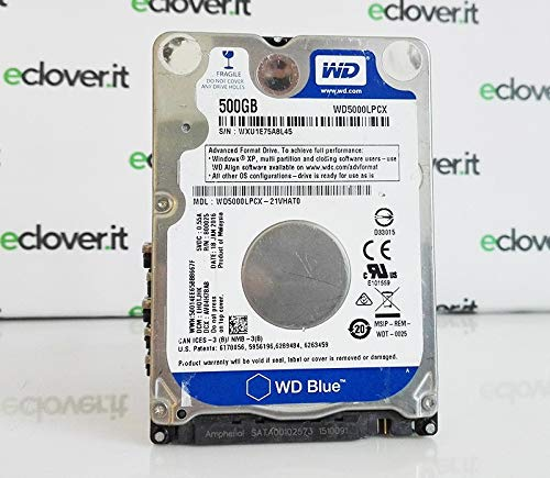 HD 2.5 500GB WD SATA BLUE 5400RPM 8GB SLIM 6MM