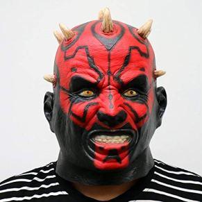ZHANGDONGLAI Máscara de látex Star Wars Película Darth Maul Cabeza Llena Miedo horroroso Máscara de Cabeza de Halloween for Disfraces Cosplay Party Ball Fancy Dress