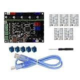 Sharplace Carte Mère Principale Controleur avec 5pcs Tmc2208 Conducteur avec 5 Dissipateur De Chaleur Accessoire Imprimante 3D