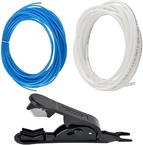 """AameriaTM RO Pipe Tube Cutter with Pipe Tube 4 mtr White 4 mtr Blue Tube Diameter 1/4"""""""