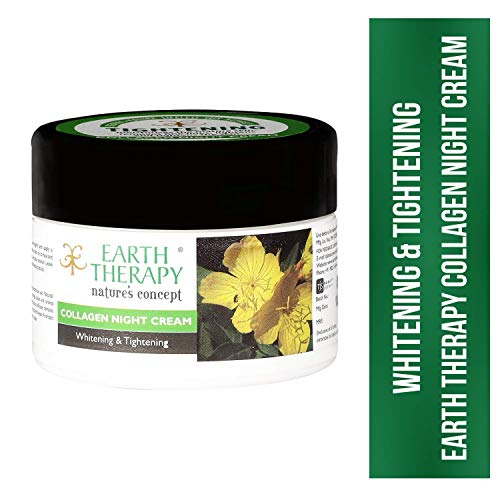 EARTH THERAPY® Whitening & Tightening Collagen Night Cream for Naturally Beautiful Skin for Women n Men - 50gm (2)