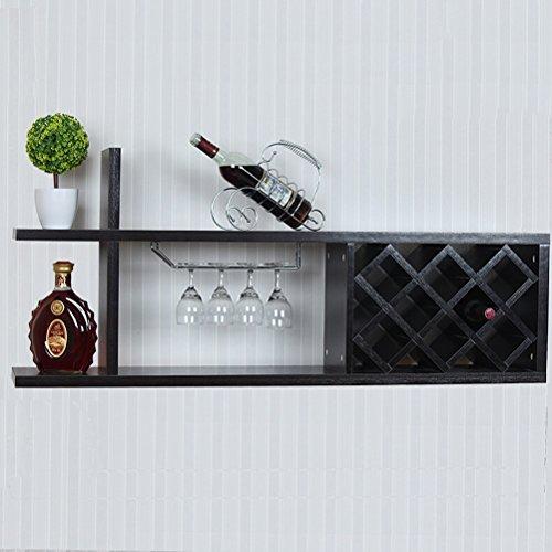 LI Wine Rack - Mensola appendiabiti da parete Diamond Lattice Wine Cabinet Mensola di stoccaggio...