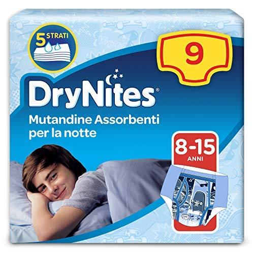Drynites Mutandine Assorbenti per la Notte da Bambino, 27 - 57 kg, Confezione da 9 Pezzi