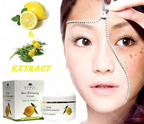 Hautcreme Whitening-Creme zum entfernen von Sommersprossen/braunen Flecken –mit Zitronen- &...