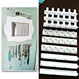 9PCS organizer per gioielli collana display gancio autoadesivi pasta montaggio a parete porta orecchini appesi ganci