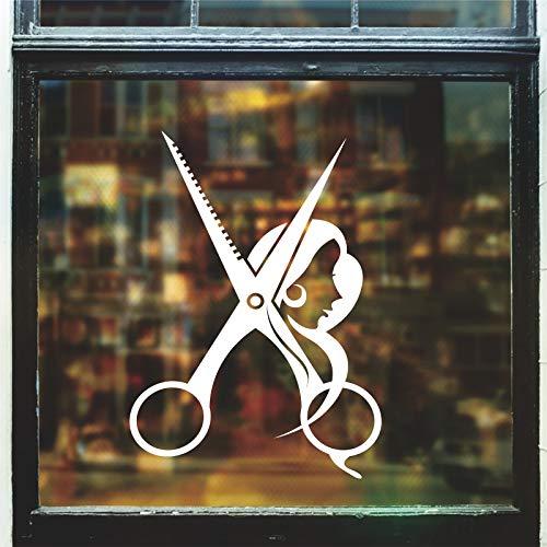 Ajcwhml Adesivo Uomo Parrucchiere Tempo Nome Chop Pane Decalcomania acconciatura Poster Vinile Wall...