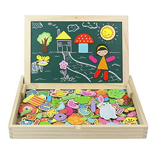 Giocattoli in Legno Puzzle Magnetica Lavagna Giochi Creativi Costruzioni Gioco da Tavolo per Bambini...