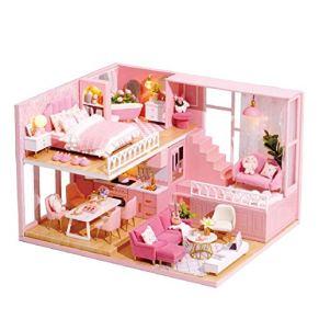 Ardentity - Miniatura DIY para casa de muñecas de Madera, Modelo Kits, decoración de casa, Tiempo cálido, Creativo para niños y bebés