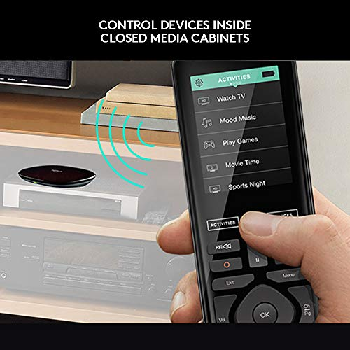 51FUgBGDtkL [Bon Plan Philips Hue] Logitech Télécommande Harmony Elite Harmony Hub et Application Design Elégant Télécommande Universelle Actions Rapides Configuration Facile Noir