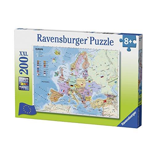 Ravensburger–12841–Puzzle scheda di Europa 200pezzi